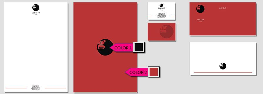 Ci Set 001 Color Geschäftsausstattung Corporate Design Identity CI Set Start Ups