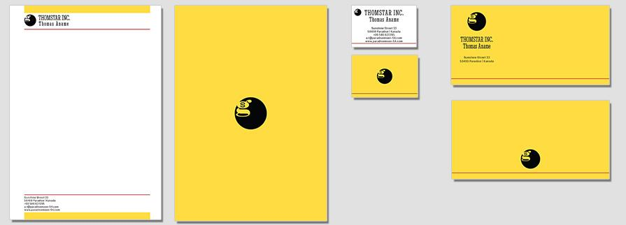 Ci Set 002 Flat Geschäftsausstattung Corporate Design Identity CI Set Start Ups