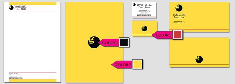 Ci Set 002 Color Color Geschäftsausstattung Corporate Design Identity CI Set Start Ups