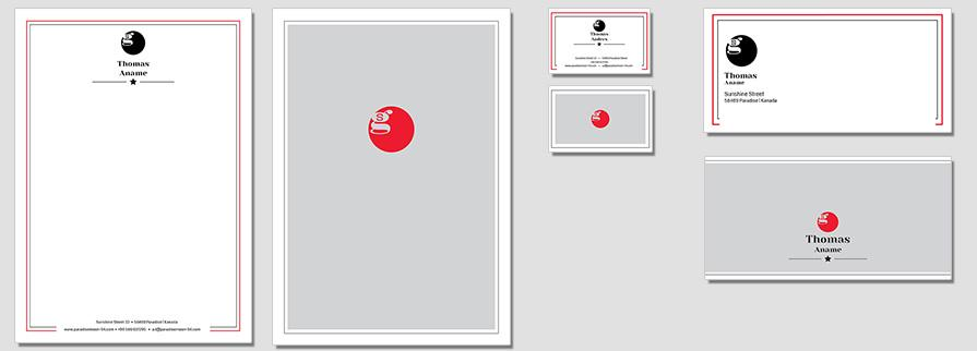 Ci Set 003 Flat Geschäftsausstattung Corporate Design Identity CI Set Start Ups