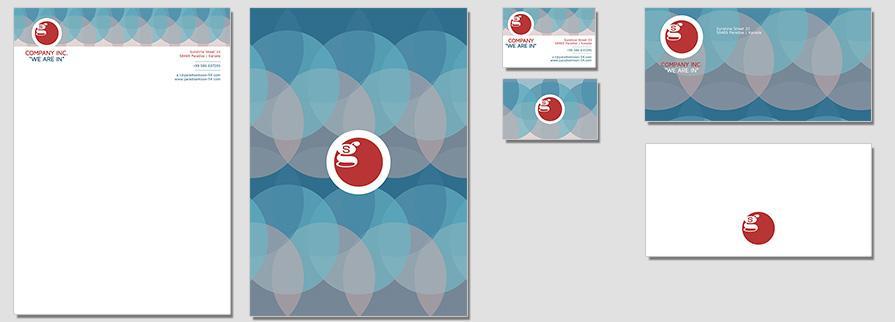 Ci Set 005 Flat Geschäftsausstattung Corporate Design Identity CI Set Start Ups