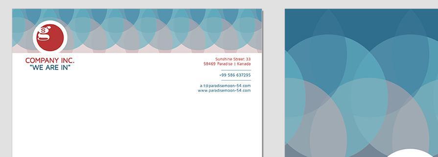 Ci Set 005 Letterhead T Geschäftsausstattung Corporate Design Identity CI Set Start Ups