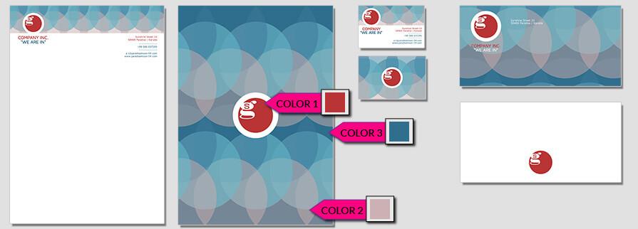 Ci Set 005 Color Geschäftsausstattung Corporate Design Identity CI Set Start Ups