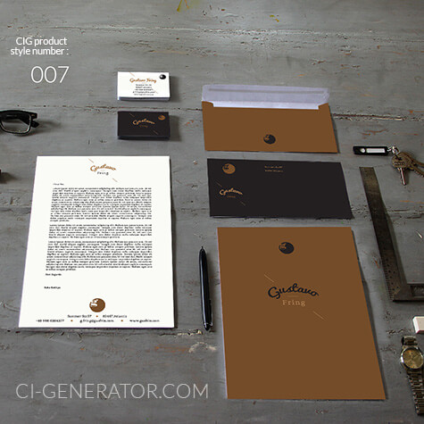 Ci Set 007 Cover Stationery Corporate Design Identity Templates CI Design