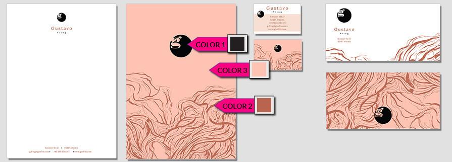Ci Set 008 Color Stationery Corporate Design Identity Templates CI Design