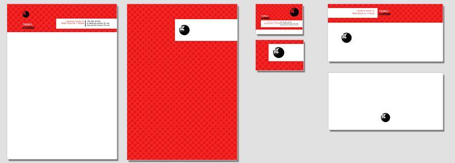 Ci Set 011 Briefpapier Flat Drucken Gestalten Briefbogen Geschäftsausstattung Stationery