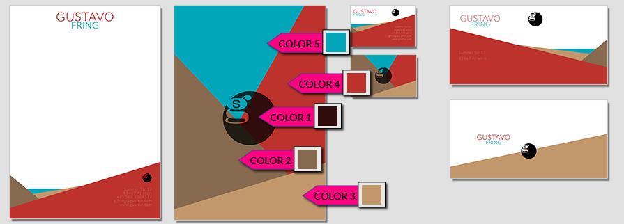 Ci Set 012 Briefpapier Color Drucken Gestalten Briefbogen Geschäftsausstattung Stationery