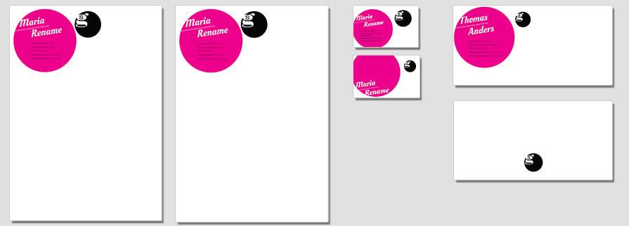 Ci Set 013 Flat Briefpapier Drucken Gestalten Briefbogen Geschäftsausstattung Stationery