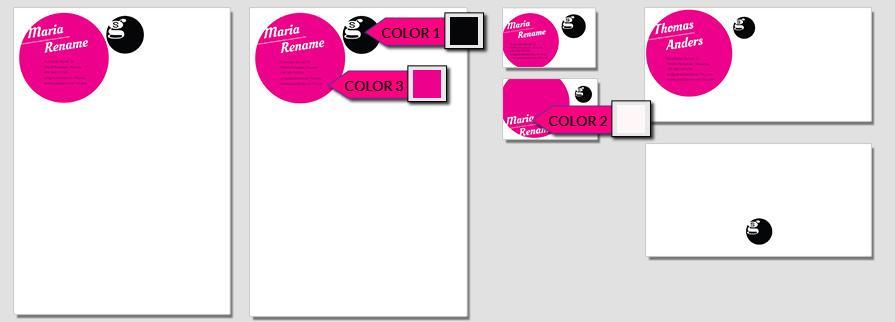 Ci Set 013 Color Briefpapier Drucken Gestalten Briefbogen Geschäftsausstattung Stationery