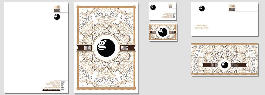 Ci Set 014 Flat Briefpapier Drucken Gestalten Briefbogen Geschäftsausstattung Stationery
