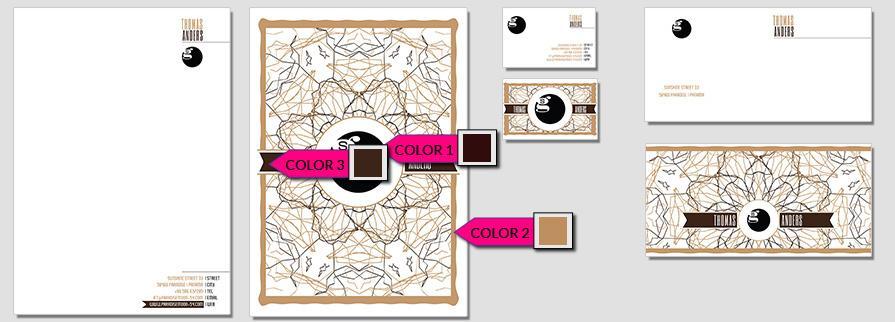 Ci Set 014 Color Briefpapier Drucken Gestalten Briefbogen Geschäftsausstattung Stationery
