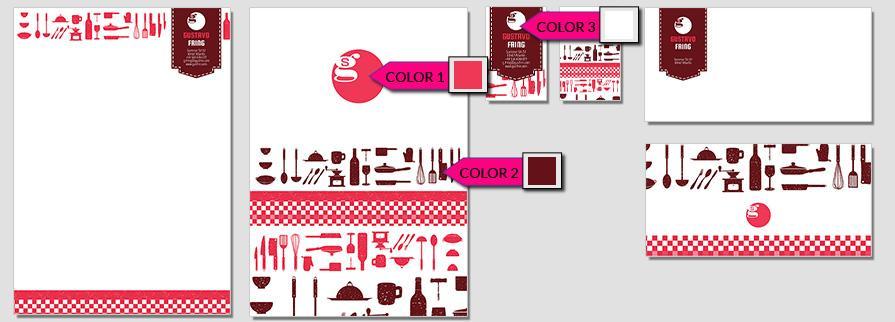 Ci Set 016 Color CI Letterhead Business Card Envelopes Facebook Branding Marketing