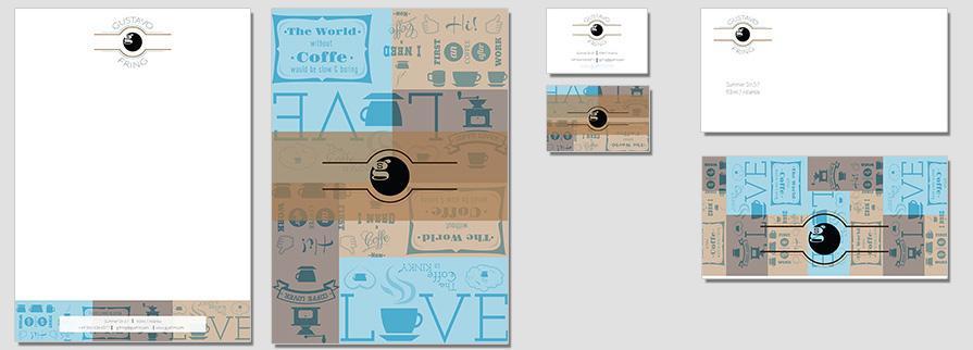 Ci Set 017 Flat Corporate Identity Geschäftsausstattung Paket Pop Art Individual Art Selbst Vermarktung Start Up