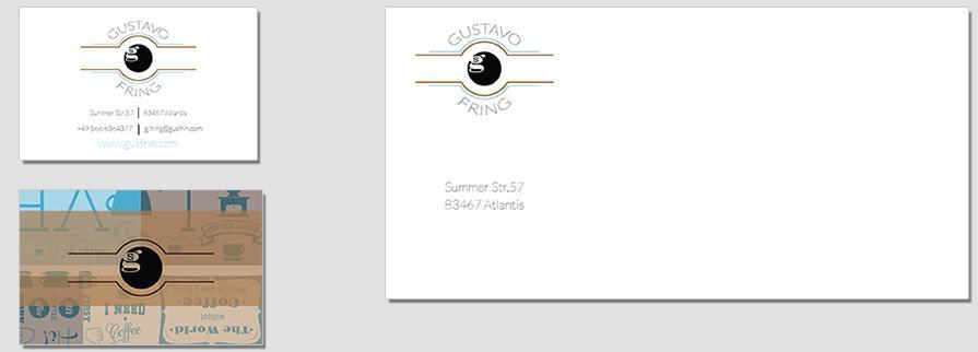 Ci Set 017 Envelope Bcard Corporate Identity Geschäftsausstattung Paket Pop Art Individual Art Selbst Vermarktung Start Up
