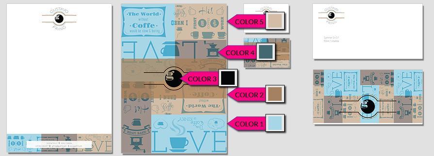 Ci Set 017 Color Corporate Identity Geschäftsausstattung Paket Pop Art Individual Art Selbst Vermarktung Start Up