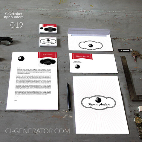 Corporate Identity 019 Www.ci-generator.com Design Start Up CI Set For Any Business