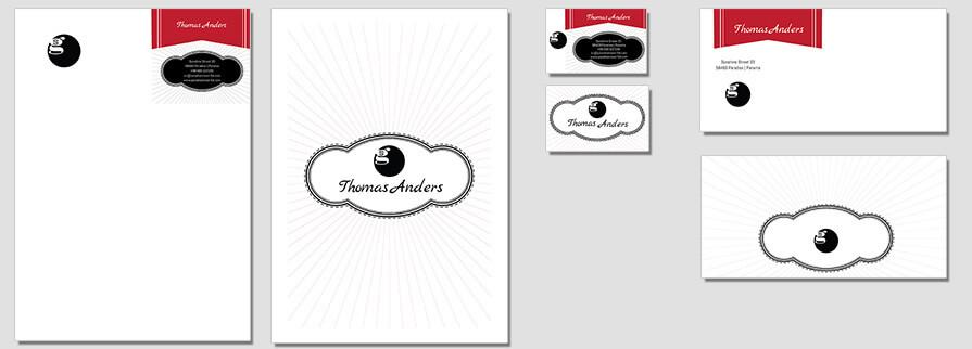 Ci Set 019 Flat CI Letterhead Business Card Envelopes Facebook Branding Marketing