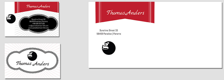 Ci Set 019 Envelope Bcard CI Letterhead Business Card Envelopes Facebook Branding Marketing