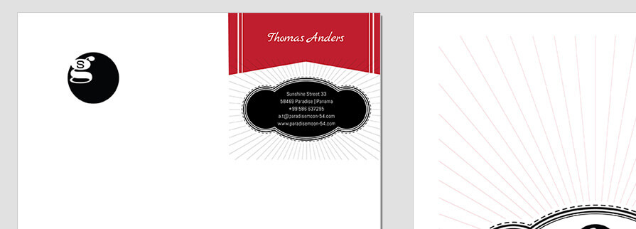 Ci Set 019 T CI Letterhead Business Card Envelopes Facebook Branding Marketing