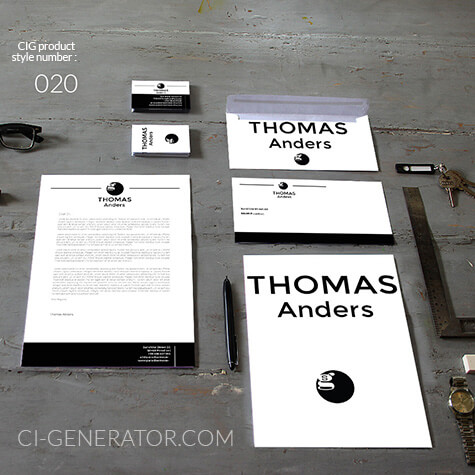 corporate identity 020 www.ci-generator.com design start up CI set for any business