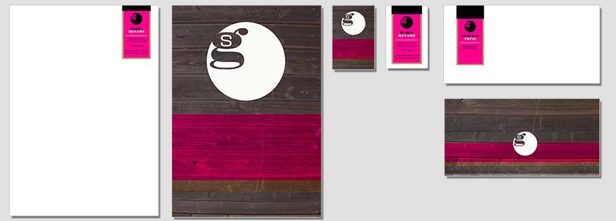 Ci Set 021 Flat CI Business Karten Visitenkarten Online Drucken Diy Do It Yourself