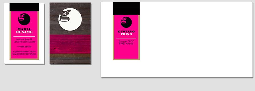 Ci Set 021 Envelope Bcard CI Business Karten Visitenkarten Online Drucken Diy Do It Yourself