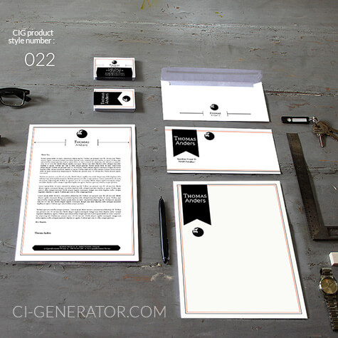 corporate identity 022 www.ci-generator.com design start up CI set for any business
