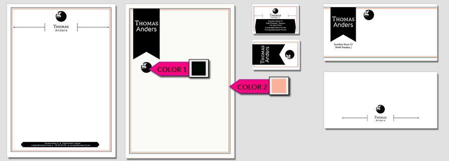 Ci Set 022 Color CI Business Karten Visitenkarten Online Drucken Diy Do It Yourself