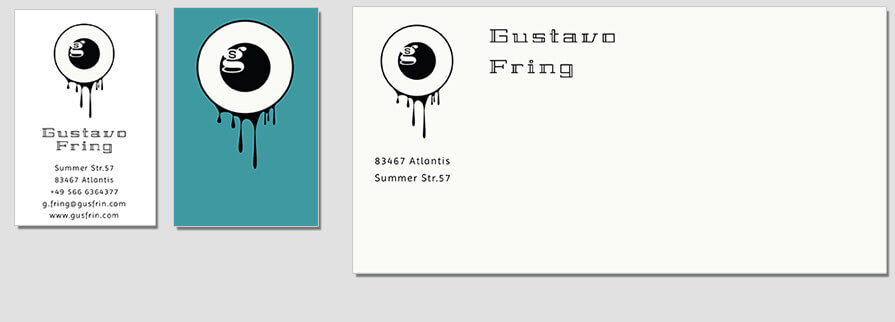 Ci Set 023 Envelope Bcard CI Business Karten Visitenkarten Online Drucken Diy Do It Yourself