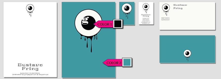 Ci Set 023 Color CI Business Karten Visitenkarten Online Drucken Diy Do It Yourself