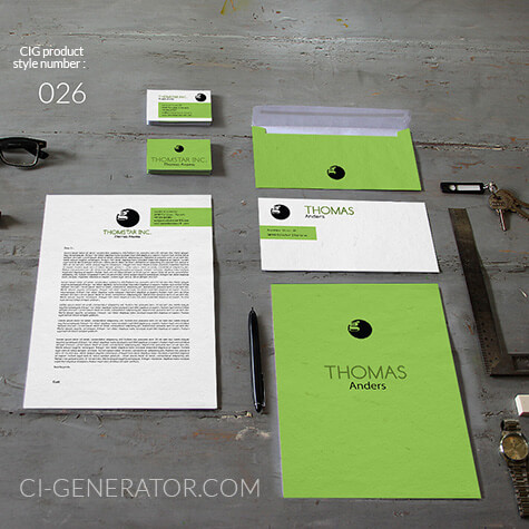 Corporate Identity 026 Www.ci-generator.com Design Start Up CI Set For Any Business