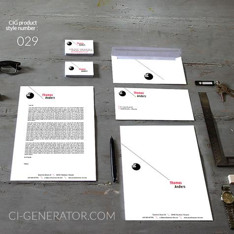 Corporate Identity 029 Www.ci-generator.com Design Start Up CI Set For Any Business