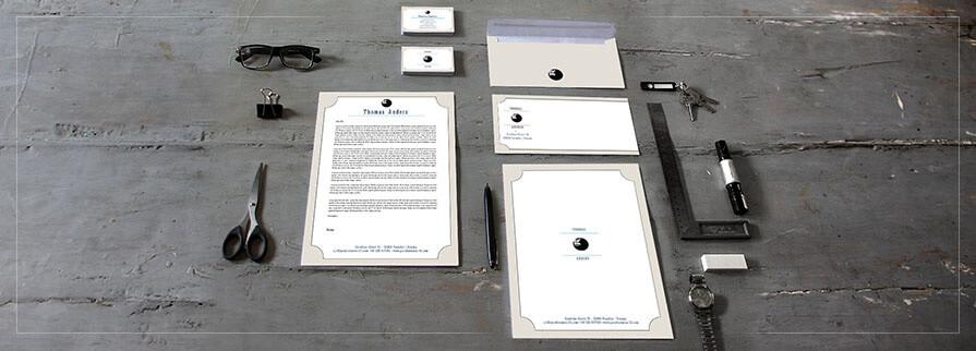 Ci Set 032 Cover Geschäftsausstattung Umschläge Selbst Drucken Start Up Set