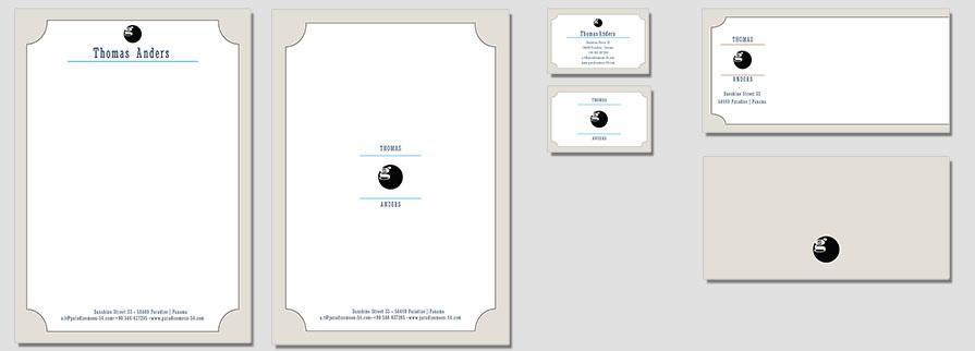 Ci Set 032 Flat Geschäftsausstattung Umschläge Selbst Drucken Start Up Set