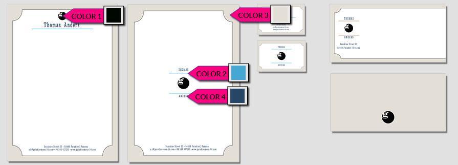 Ci Set 032 Color Geschäftsausstattung Umschläge Selbst Drucken Start Up Set