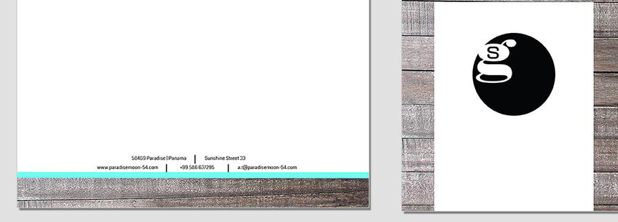 Ci Set 033 Letterhead B Geschäftsausstattung Umschläge Selbst Drucken Start Up Set