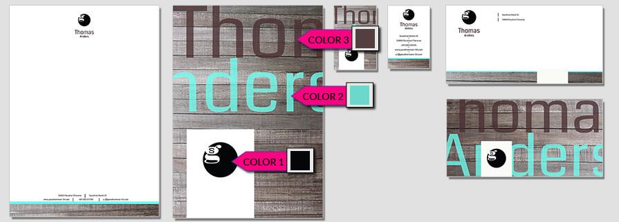 Ci Set 033 Color Geschäftsausstattung Umschläge Selbst Drucken Start Up Set