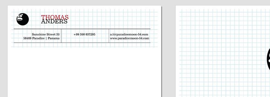 Ci Set 034 Letterhead T Geschäftsausstattung Umschläge Selbst Drucken Start Up Set