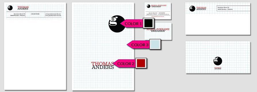 Ci Set 034 Geschäftsausstattung Color Umschläge Selbst Drucken Start Up Set