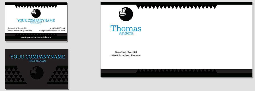 Ci Set 035 Envelope Bcard Geschäftsausstattung Umschläge Selbst Drucken Start Up Set
