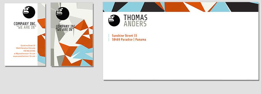 Ci Set 036 Envelope Bcard Corporate Identity Business Card Letterheadd Self Printing Start Up Set