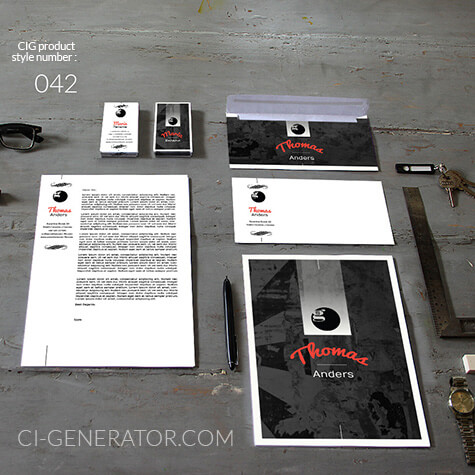 Corporate Identity 042 Www.ci-generator.com Design Start Up CI Set For Any Business