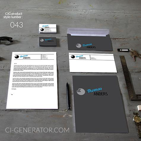 Corporate Identity 043 Www.ci-generator.com Design Start Up CI Set For Any Business