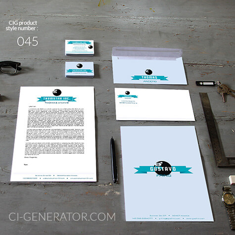 Corporate Identity 045 Www.ci-generator.com Design Start Up CI Set For Any Business