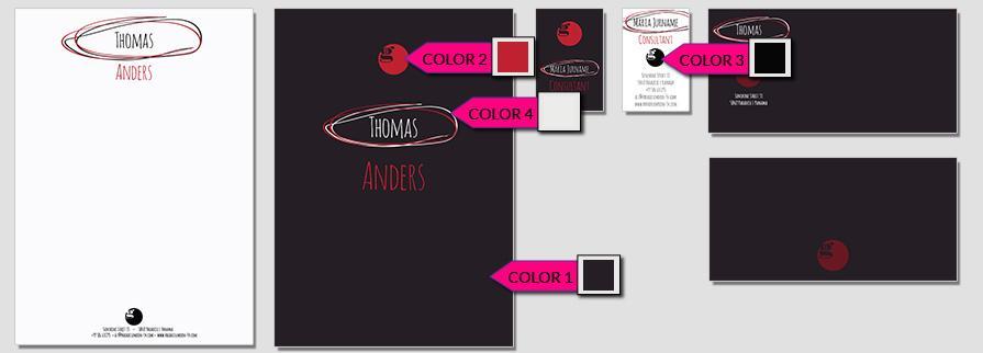 Ci Set 046 Color Corporate Identity Geschäftsausstattung Paket Pop Art Individual Art Selbst Vermarktung Start Up
