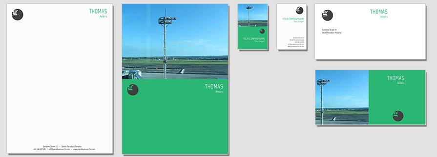Ci Set 047 Flat Corporate Identity Geschäftsausstattung Paket Pop Art Individual Art Selbst Vermarktung Start Up