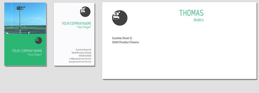 Ci Set 047 Envelope Bcard Corporate Identity Geschäftsausstattung Paket Pop Art Individual Art Selbst Vermarktung Start Up