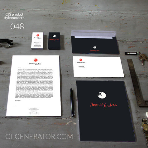 corporate identity 048 www.ci-generator.com design start up CI set for any business