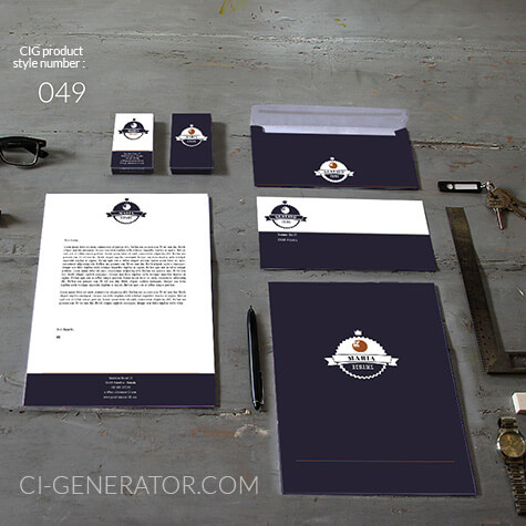 Corporate Identity Design 049 Www.ci-generator.com Design Start Up CI Set For Any Business