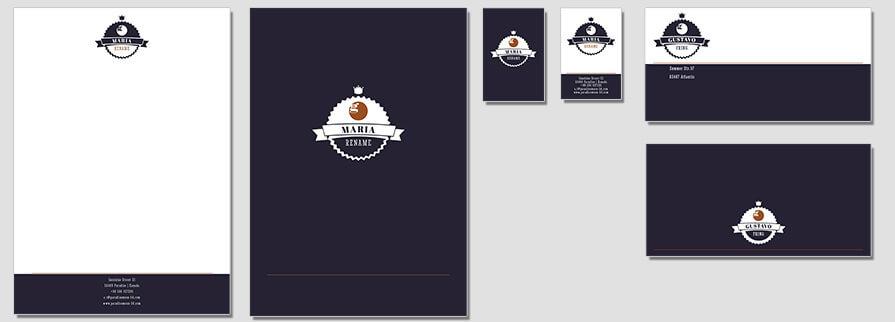 Ci Set 049 Flat Corporate Identity Geschäftsausstattung Paket Pop Art Individual Art Selbst Vermarktung Start Up